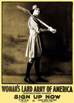 Woman's Land Army Of America YWCA - 1917 - World War I - Recruitment Magnet