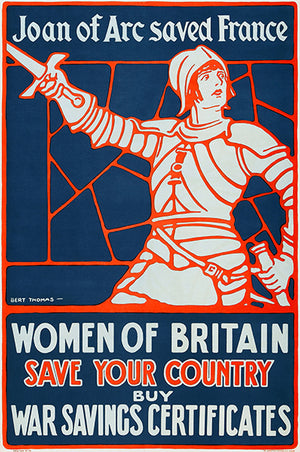 Women Of Britain Save Your Country - 1918 - World War I - Propaganda Poster