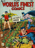 World's Finest Comics #11 - Fall Issue 1943 - Comic Book Cover Poster