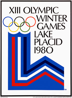 XIII Winter Olympic Games - Lake Placid - 1980 - Advertising Poster