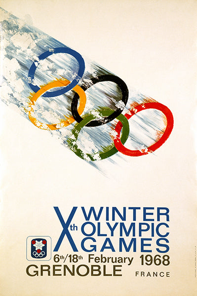 Xth Winter Olympic Games - Grenoble, France - 1968 - Advertising Poster