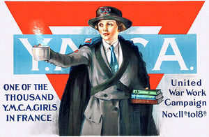 YMCA Girls In France - 1918 - World War I - Propaganda Poster