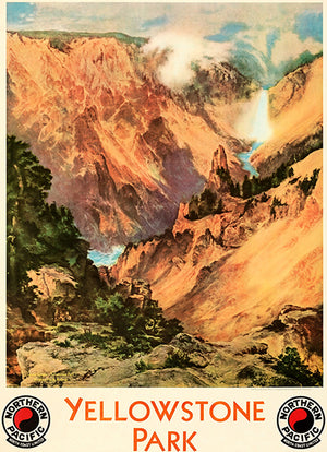 Yellowstone Park - Northern Pacific Railway - 1924 - Travel Poster Magnet