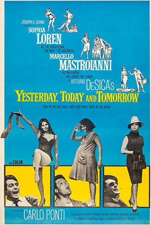 Yesterday, Today And Tomorrow - 1964 - Movie Poster Magnet