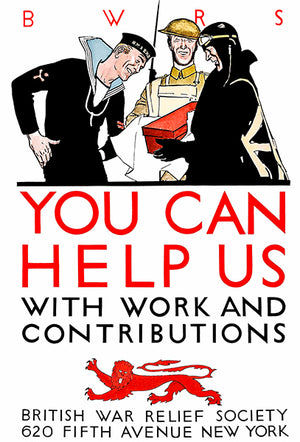 You Can Help Us - 1940's - World War II - British Propaganda Poster