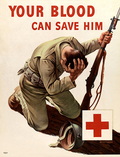 Your Blood Can Save Him - 1940s - World War II - Propaganda Mug