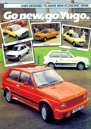 Yugo - Go New, Go Yugo - Promotional Advertising Magnet