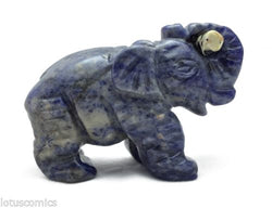 Elephant Sodalite with Dalmatian Jasper Log Hand Carved Gemstone Animal Totem