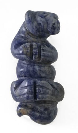 Otter Blue Sodalite Hand Carved Gemstone Animal Totem Statue Stone Sculpture