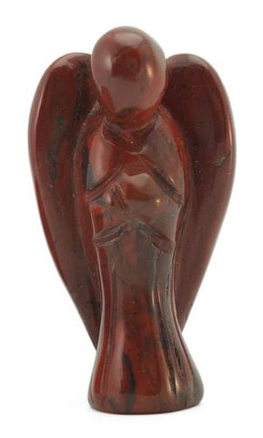 Angel Red Jasper Hand Carved Gemstone Tiny Totem Statue Stone Sculpture
