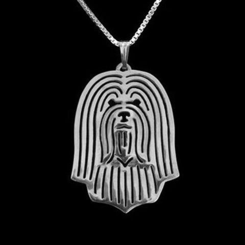 Havanese Dog Silver Charm Pendant Necklace Pet Lover Animal Jewelry Friend Gift