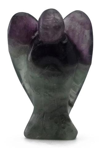Angel Fluorite Hand Carved Natural Gemstone Totem Statue Stone Sculpture [Angel #6]