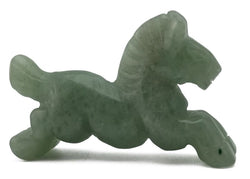 Horse Green Aventurine Hand Carved Gemstone Animal Totem Statue Stone Sculpture