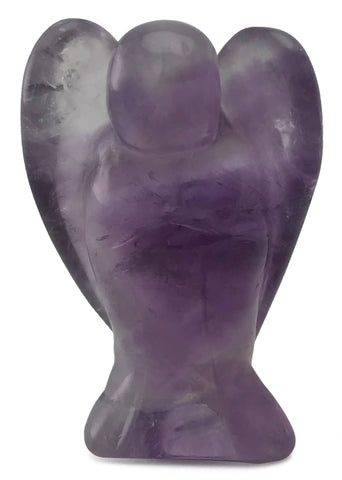 Angel Purple Amethyst Crystal Hand Carved Gemstone Totem Statue Stone Sculpture [Angel #1]