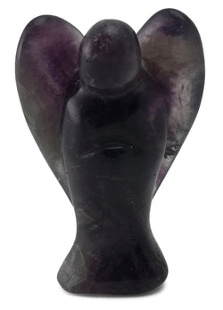 Angel Fluorite Hand Carved Natural Gemstone Totem Statue Stone Sculpture [Angel #5]