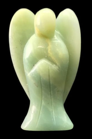 Angel Amazonite Hand Carved Gemstone Totem Statue Stone Sculpture [Angel #8]