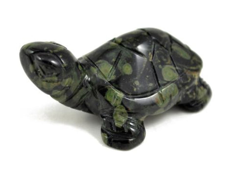 Turtle Kambaba Jasper Hand Carved Gemstone Animal Totem Statue Stone Sculpture