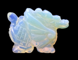 Winged Dragon Opalite Hand Carved Gemstone Animal Totem Statue Stone