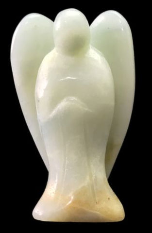 Angel Amazonite Hand Carved Gemstone Totem Statue Stone Sculpture [Angel #4]