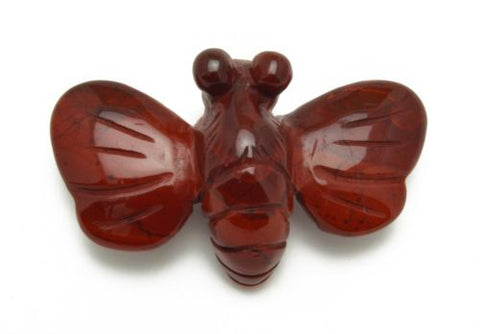 Bee Red Jasper Hand Carved Gemstone Animal Totem Statue Stone Sculpture