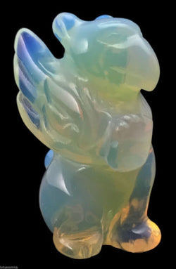 Griffin Opalite Hand Carved Gemstone Animal Totem Statue Stone Sculpture Gryphon