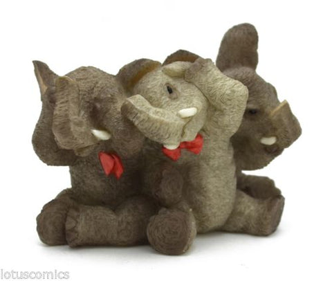 Stone Critters Elephant Collection Animal Collection SC1062 Hear See Speak