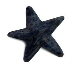 Starfish Blue Sodalite Hand Carved Gemstone Animal Tiny Totem Statue Stone