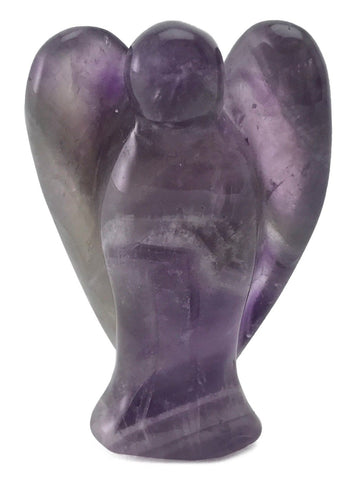 Angel Purple Amethyst Crystal Hand Carved Gemstone Totem Statue Stone Sculpture [Angel #8]
