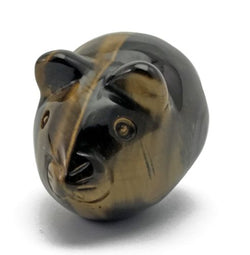 Mouse Tigers Eye Hand Carved Gemstone Animal Totem Statue Stone
