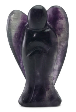 Angel Fluorite Hand Carved Natural Gemstone Totem Statue Stone Sculpture [Angel #8]
