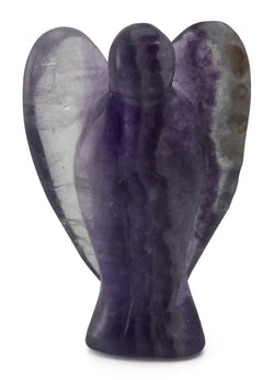 Angel Fluorite Hand Carved Natural Gemstone Totem Statue Stone Sculpture [Angel #10]