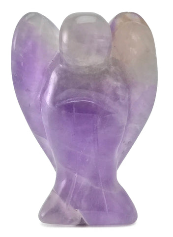 Angel Purple Amethyst Crystal Hand Carved Gemstone Totem Statue Stone Sculpture [Angel #14]