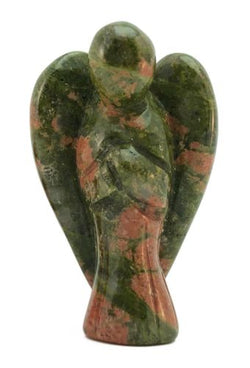 Angel Unakite Hand Carved Gemstone Tiny Totem Statue Stone Sculpture