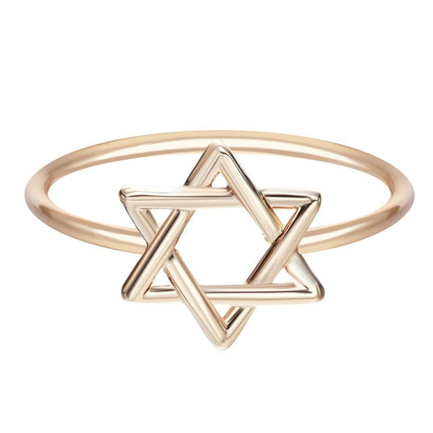 Merkaba Ring Sacred Geometry Gold Silver Star of David Jewelry Metal Gift