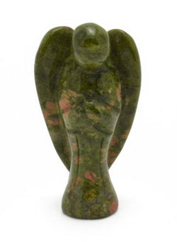 Angel Unakite Hand Carved Gemstone Being Totem Statue Stone Sculpture
