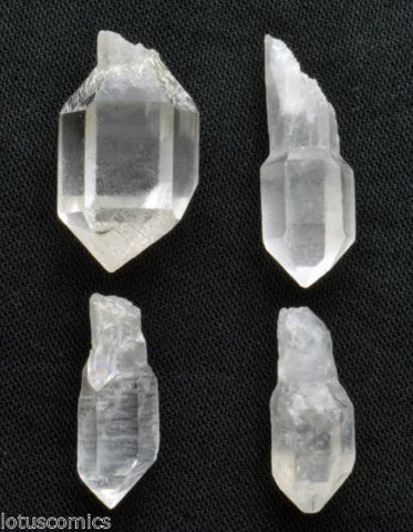 Lot of 4 Tibetan Scepter Natural Clear Quartz Crystal Point Jewelry SCQ235