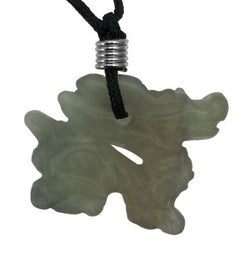 Dragon Fluorite Gemstone Animal Pendant Hand Carved Stone Necklace