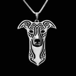 Whippet Dog Silver Charm Pendant Necklace Pet Lover Animal Jewelry Friend Gift