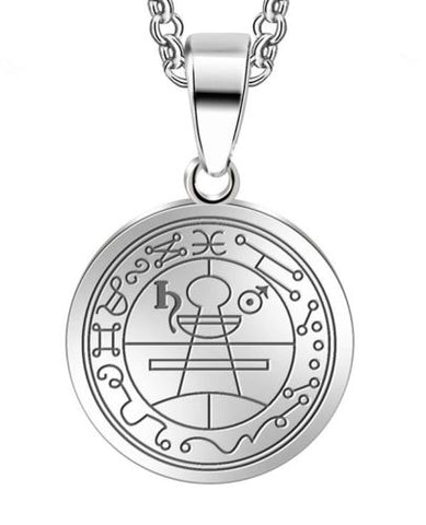 Seal of Solomon Pentacle Pendant Necklace Stainless Steel Jewelry