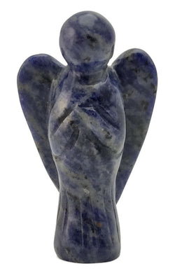 Angel Blue Sodalite Hand Carved Gemstone Totem Statue Stone Sculpture