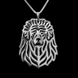 Tibetan Mastiff Dog Silver Charm Pendant Necklace Pet Lover Animal Jewelry Gift