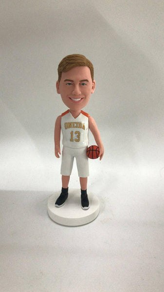 Basketball Personalized Boyfriend Gift Bobble Head Clay Figurine Birthday Cake Topper