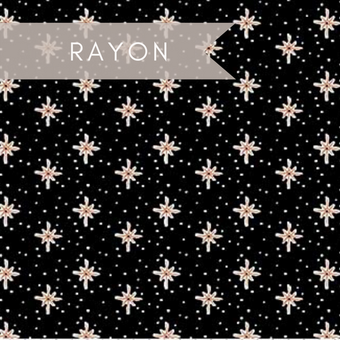 Desert Stars in Black - Rayon