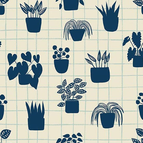 House Plants in Navy