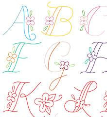 Monograms Small Pack Embroidery Transfers by Sublime Stitching