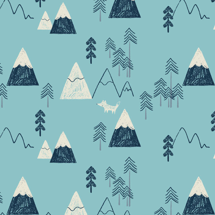 Mountains in Blue