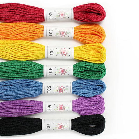 Rainbow Embroidery Floss Pack by Sublime Stitching