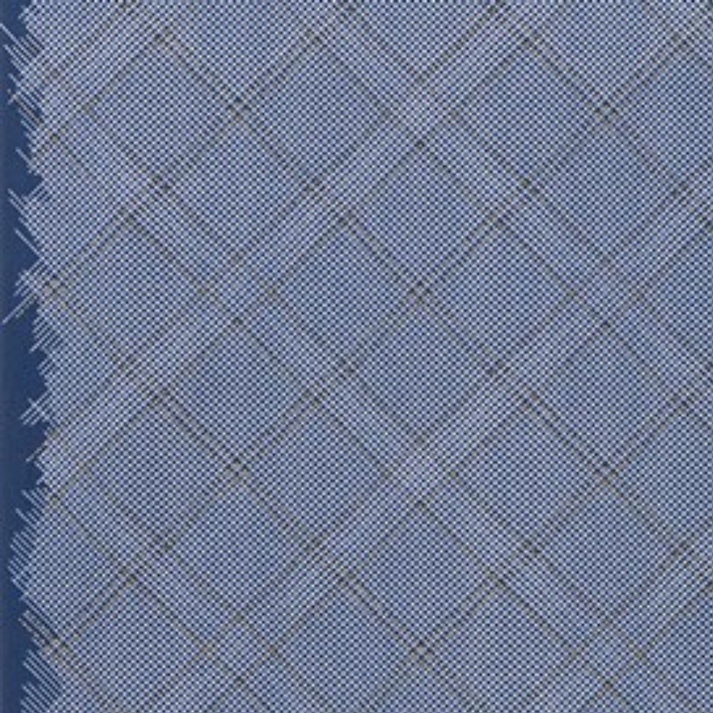 Tartan Single Border in Navy (Metallic)