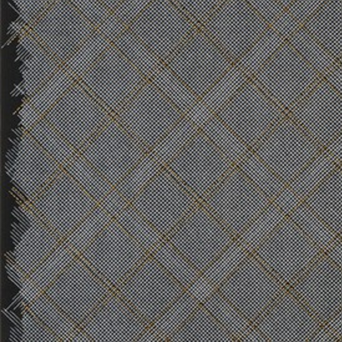 Tartan Single Border in Black (Metallic)