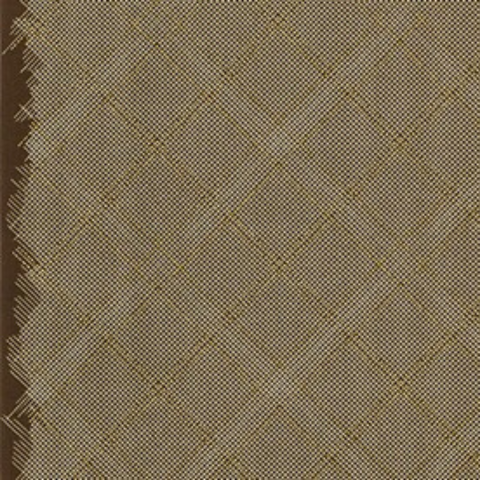 Tartan Single Border in Brown (Metallic)